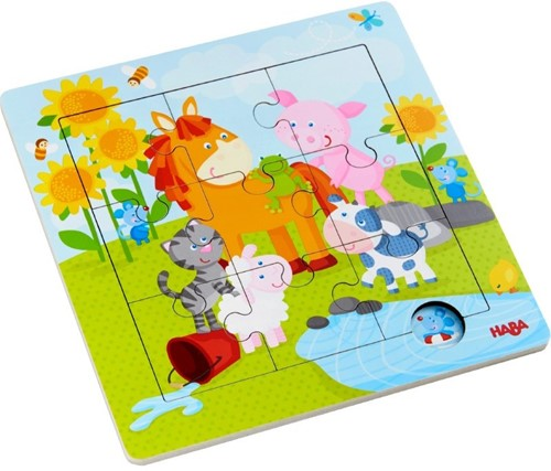 Haba Holzrahmen-Puzzle Tierfreunde