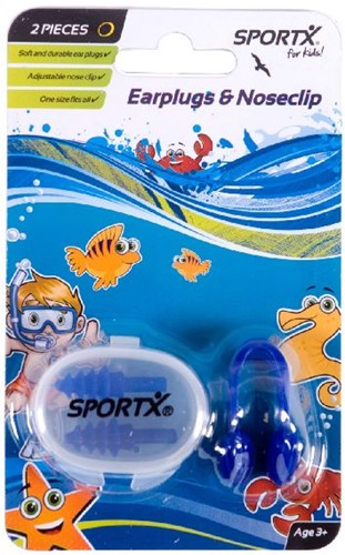 SportX Nasenclip + Ohrenstöpse