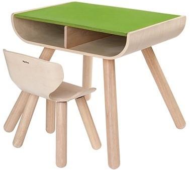 Plan Toys Holz Kindermobel Tisch Stuhl Grun