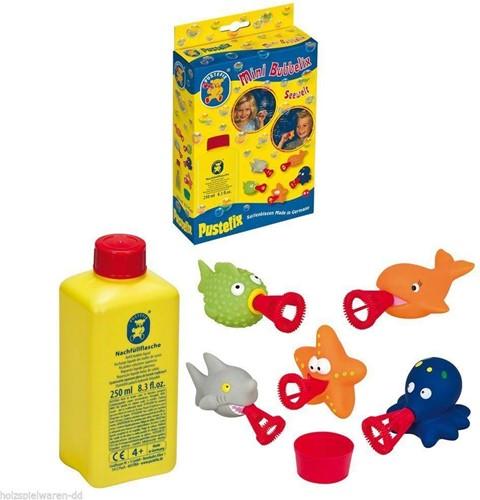 Pustefix  Spielzeug für Draußen Seifenblasen Mini BUBBELIX Seewelt