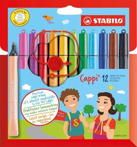 STABILO Cappi Filzstift Mehrfarbig 12, 1