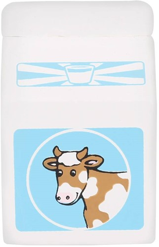 BigJigs Holzküche Zubehör Packung Milch, Stück