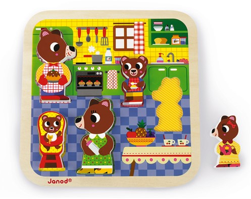 JANOD J07082 Formpuzzle 5 Stück(e)