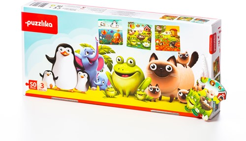 "Puzzlika puzzle 3 in 1 """"Favorite animals"""""