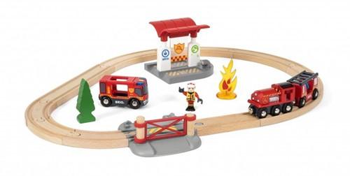 Brio Holz Eisenbahn Set BRIO Bahn Feuerwehr Set 33815