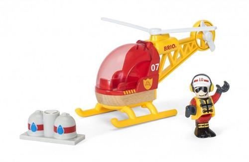 Brio Holz Eisenbahn Zubehör Feuerwehr-Hubschrauber 33797