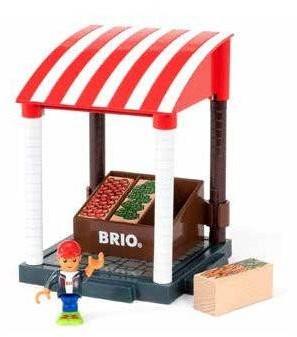 Brio Spielstadt Gebäude Village Marktstand 33946