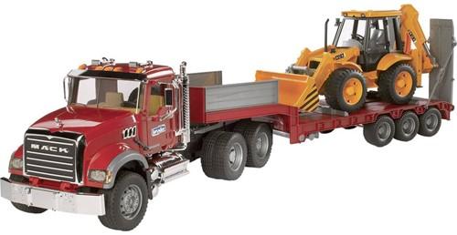 BRUDER MACK Granite Low loader and JCB 4CX Spielzeugfahrzeug