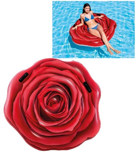 Intex 58783EU Aufblasbares Spielzeug für Pool & Strand Rot Schwimmende Matratze Abbildung Vinyl