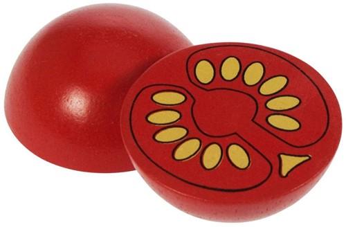 BigJigs Holzküche Zubehör Halbe Tomate, Stück