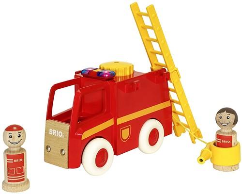 Brio Spielfahrzeug My Home Town - Feuerwehrauto mit Licht und Sound 30383