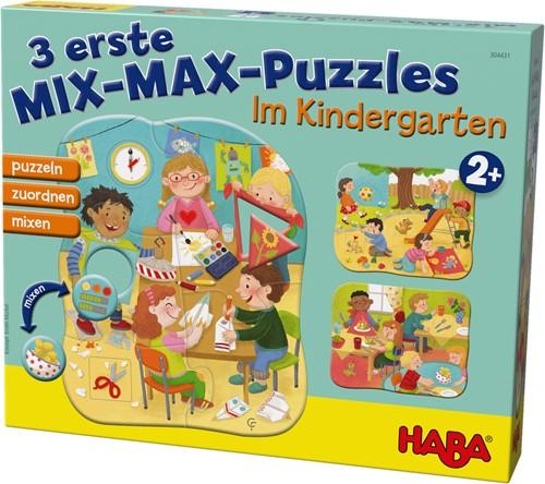 HABA 3 erste Mix-Max-Puzzles - Im Kindergarten