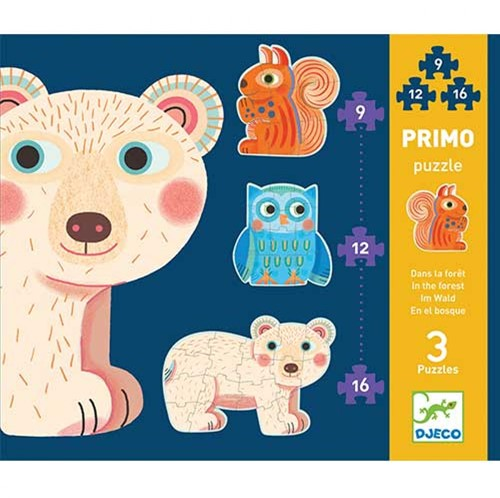 Djeco Puzzles Primo - Dans la forêt*