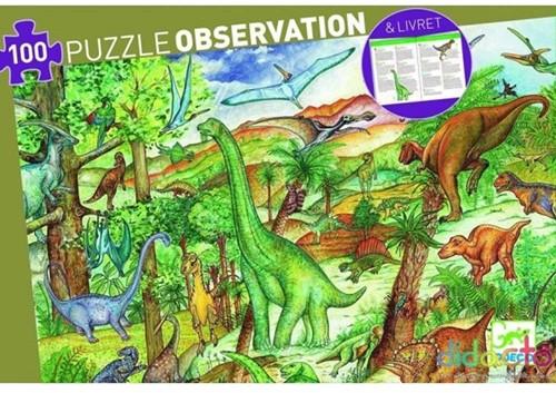 Djeco Dinosaures 100 pcs + livret