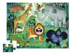 Crocodile Creek 36 pcs Shaped Puzzle/Very Wild Animals