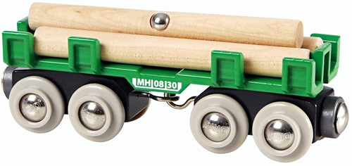 Brio Holz Eisenbahnwaggon Langholzwagen 33696