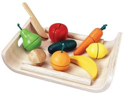 Plan Toys Holzküche Zubehör Obst und Gemüse Sortiment