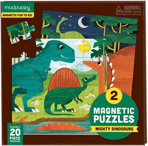 Mudpuppy Magnetic Fun/Mighty Dinosaurs