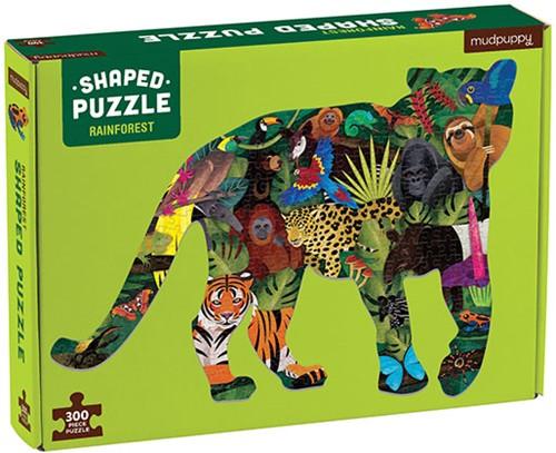 Mudpuppy 300 pcs Shaped Puzzle/Rainforest