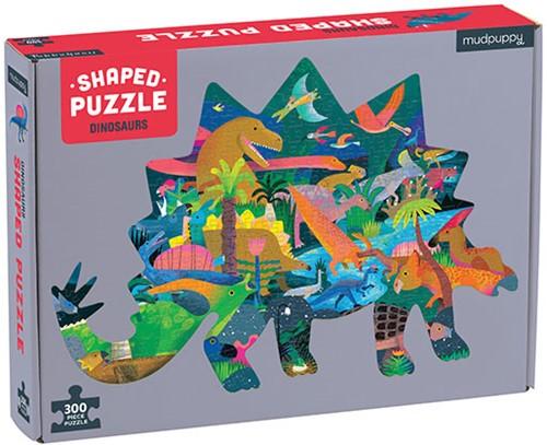 Mudpuppy 300 pcs Shaped Puzzle/Dinosaurs