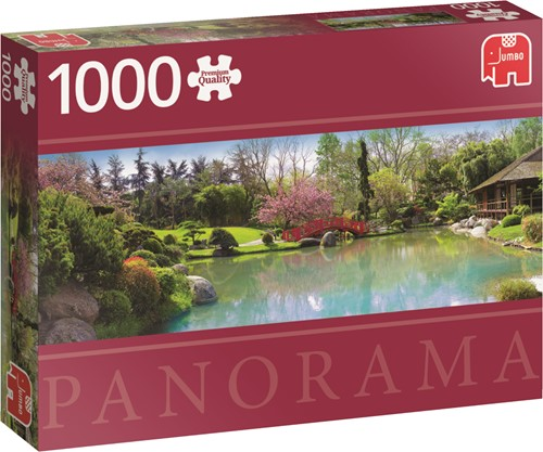 Premium Collection Farbenfroher Garten 1000 Teile Panorama