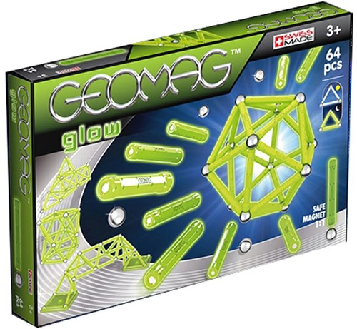 Geomag Color Glow 64 pcs Neodymium-Magnetspielzeug 64 Stück(e) Grün