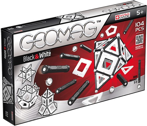 Geomag Panels Black&White 104 pcs Neodymium-Magnetspielzeug 104 Stück(e) Mehrfarbig
