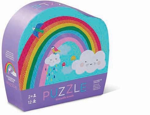 Crocodile Creek 12 pcs Mini Puzzle/Rainbow