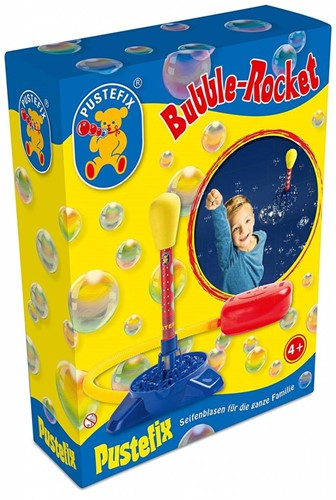 Pustefix Spielzeug für Draußen Seifenblasen Bubble-Rocket