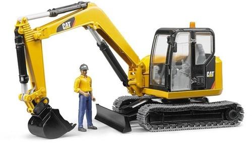 BRUDER Cat Minibagger mit Bauarbeiter
