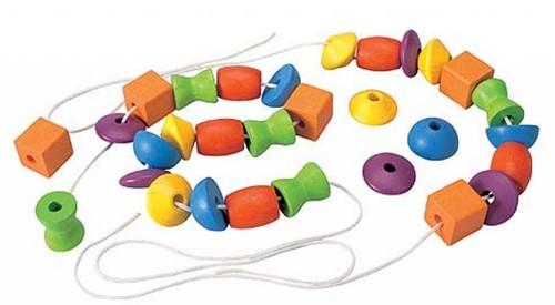 Plan Toys  Holz Lernspiel Fädelspiel 30 Perlen