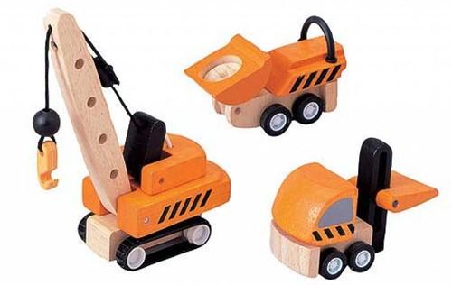 Plan Toys  Plan City Holz Baustellenfahrzeuge