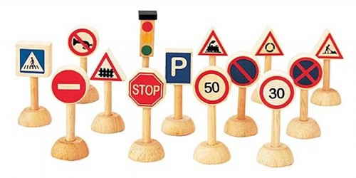 PlanToys Set Of Traffic Signs & Lights