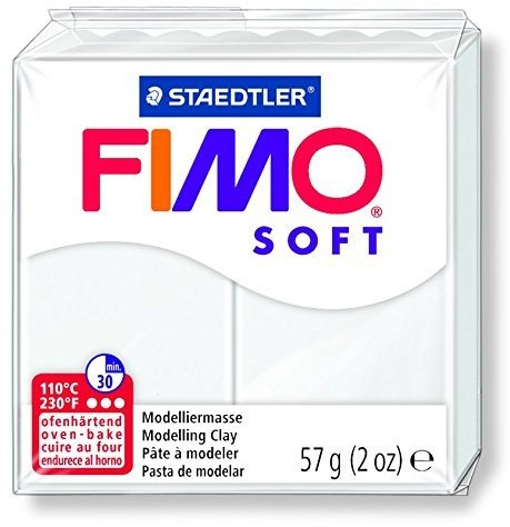 Fimo soft boetseerklei 57g wit