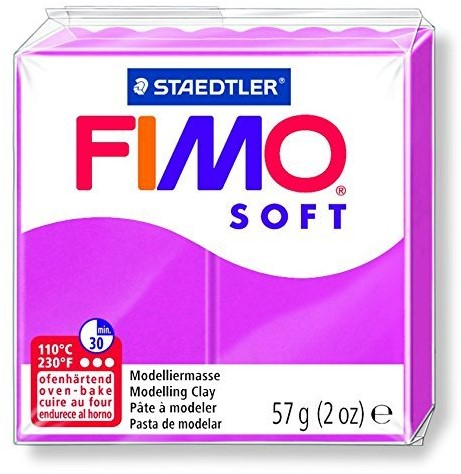 Fimo soft boetseerklei 57g framboos