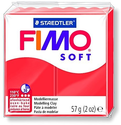 Fimo  soft klei - indisch rood