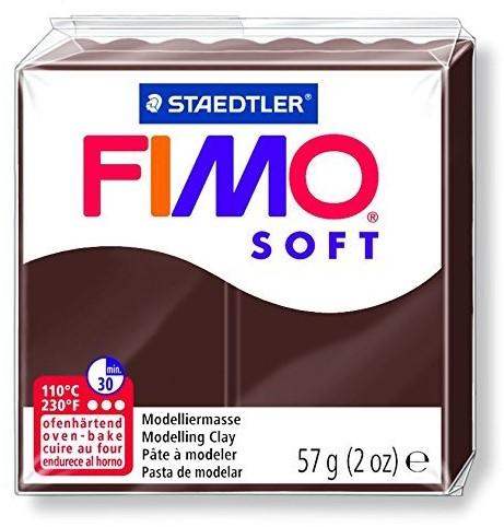Fimo soft boetseerklei 57g choco