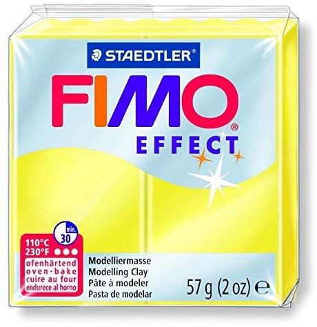 Fimo effect boetseerklei 57g transparant geel