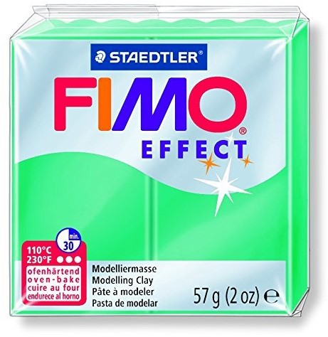 Fimo effect boetseerklei 57g transparant groen