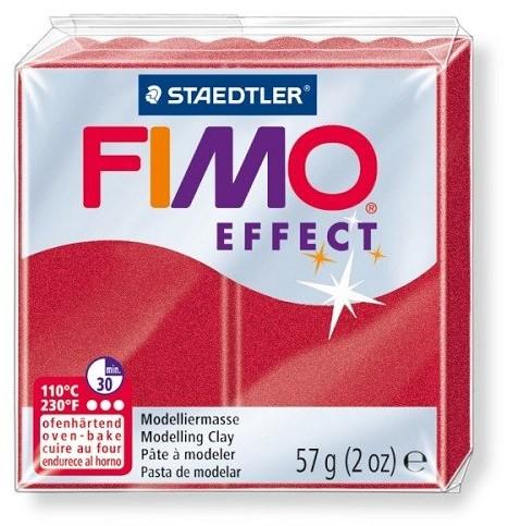 Fimo effect boetseerklei 57g metallic robijn