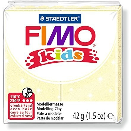 Fimo kids boetseerklei 42g lichtgeel