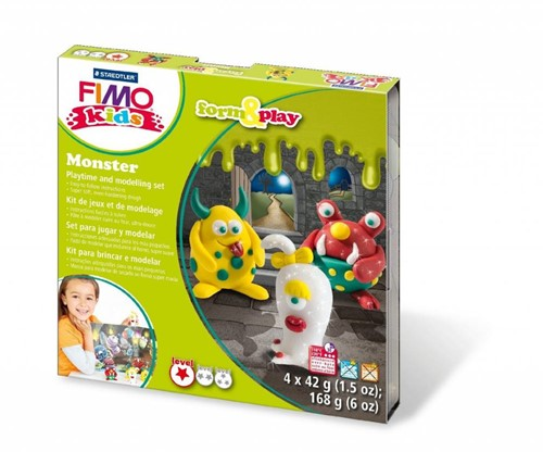 Staedtler FIMO kids 8034 Knetmasse Grün, Rot, Weiß, Gelb 42 g 1 Stück(e)