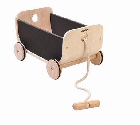 Plan Toys  Holz Laufwagen Wagon Schwarz 8619