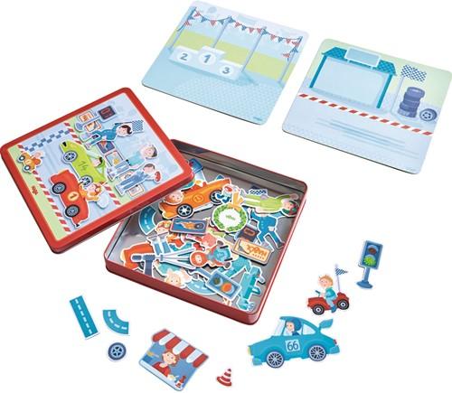 Haba Magnetspiel-Box Flotte Flitzer