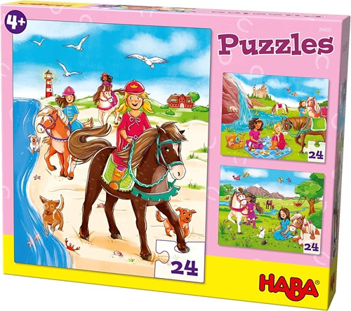 Haba Puzzles Pferdefreundinnen