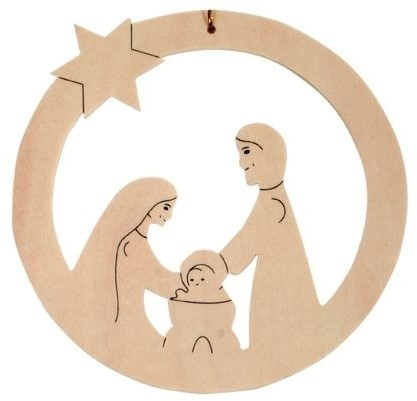 Beleduc  Holz Bastelset Weihnachtsanhänger Jesuskind