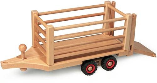 Fagus  houten speelvoertuig safari aanhanger
