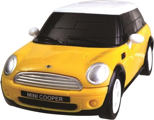 Eureka puzzel Mini Cooper - 1:32 - yellow****