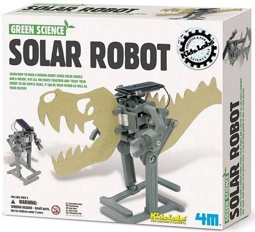 4MKidzlabsGREENSCIENCE:SOLARROBOTH14cm,laatderobotbewegenmbv zonnepaneleneneenmotor,gedetailleerdeinstructiesinbegrepen,doos 24x22x6cm,5+