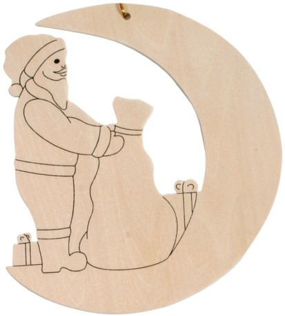 Beleduc  Holz Bastelset Weihnachtsanhänger Weihnachtsmann